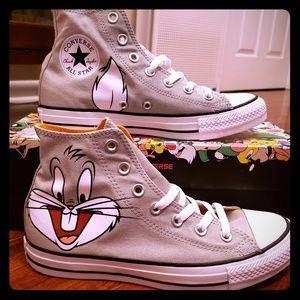 Bugs Bunny Looney Tunes Converse Hi Top